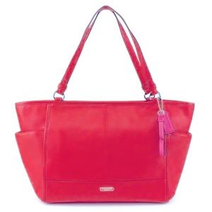 NWT Coach Pink Park Leather Tote